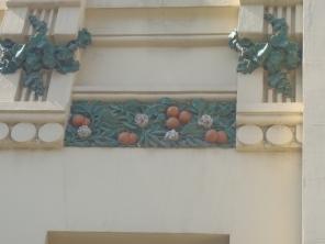detalles de la fachada...